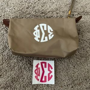 Handbags - Phi Sigma Sigma Brown Cosmetic Case